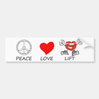 Adesivo Para Carro paz love22
