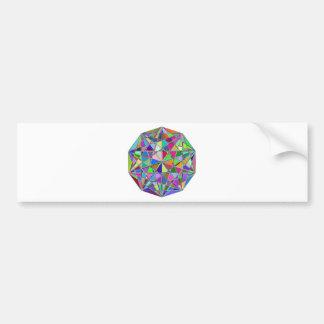 Adesivo Para Carro Pedra de gema tirada Kaleidescope colorida