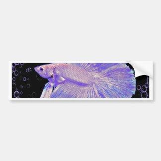 Adesivo Para Carro Peixes de combate roxos iridescentes
