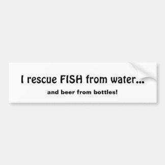 Adesivo Para Carro Peixes do salvamento da cerveja da água das