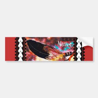Adesivo Para Carro Pena colorida de Eagle do nativo americano