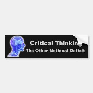 Adesivo Para Carro Pensamento crítico