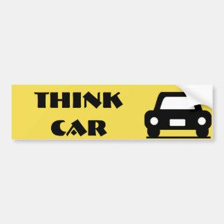 Adesivo Para Carro Pense a etiqueta Funky do carro