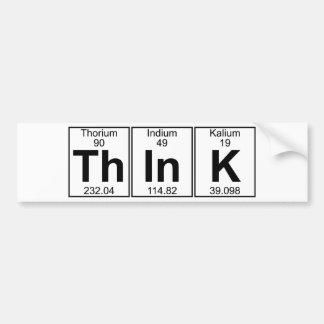 Adesivo Para Carro Pense (pense) - o cheio