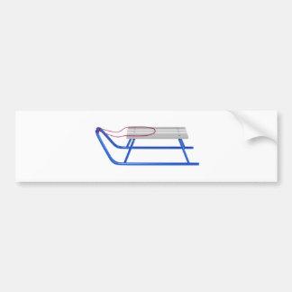Adesivo Para Carro Pequeno trenó no branco