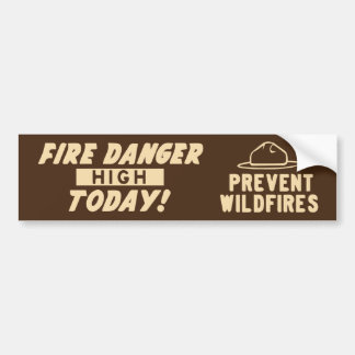Adesivo Para Carro Perigo do fogo alto hoje! Impeça incêndios