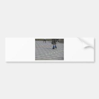 Adesivo Para Carro Pés da cara em skates inline. Patinadores Inline