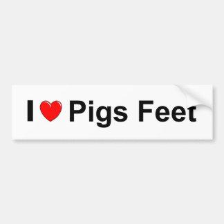 Adesivo Para Carro Pés dos porcos