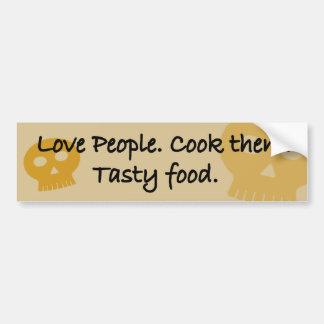 Adesivo Para Carro Pessoas do amor. Cozinhe-os. Alimento saboroso