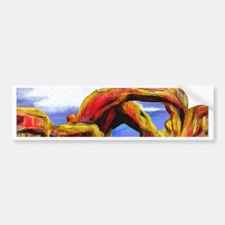 Adesivo Para Carro Pintura de paisagem dobro do arco