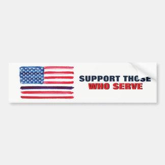 Adesivo Para Carro Polícia fina do apoio da bandeira americana de