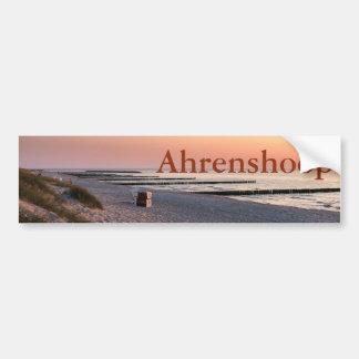 Adesivo Para Carro Por do sol da praia de Ahrenshoop