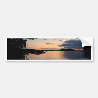 Adesivo Para Carro Por do sol sobre o lago Maine Millinocket da ilha