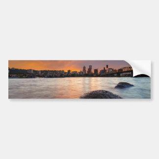 Adesivo Para Carro Portland OU skyline ao longo do por do sol do rio