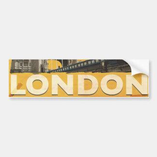 Adesivo Para Carro Poster de Londres do vintage