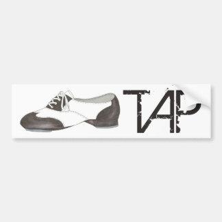 Adesivo Para Carro Presente preto e branco dos calçados de Oxford do