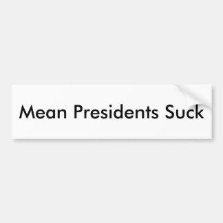 Adesivo Para Carro Presidentes médios Sugação