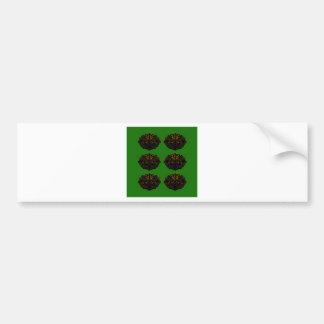 Adesivo Para Carro Preto verde de Eco dos elementos do design