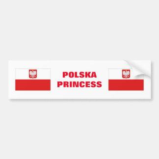 ADESIVO PARA CARRO PRINCESA DE POLSKA