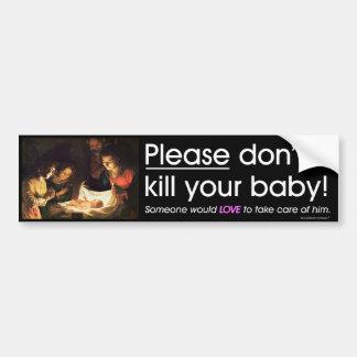 Adesivo Para Carro Pro mensagem da vida - por favor não mate seu