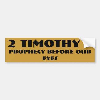Adesivo Para Carro Profecia antes de nossos olhos