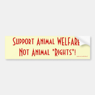 """Adesivo Para Carro Protecção animal do apoio, """"direitos nao animais""""!"""