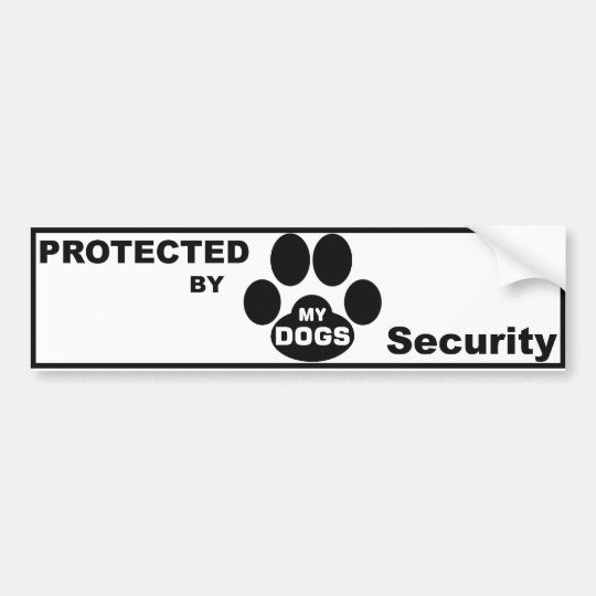 Adesivo Para Carro Protected by MY DOGS