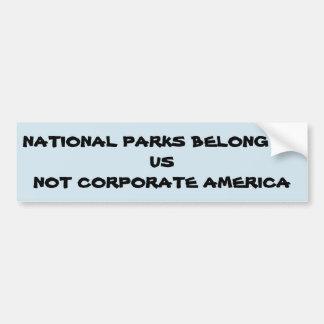 Adesivo Para Carro Protesto contra a anexação de nossos parques