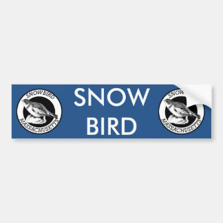 Adesivo Para Carro Protetor do Snowbird de Massachusetts