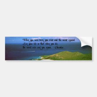 Adesivo Para Carro Provérbio do indiano do nativo americano