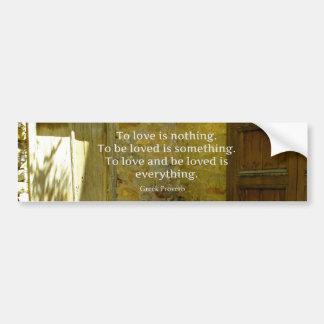 Adesivo Para Carro Provérbio grego sobre o amor