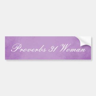 Adesivo Para Carro Provérbio roxos 31 do pergaminho