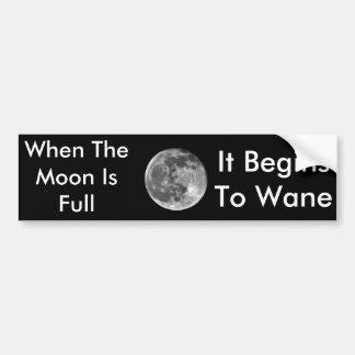 Adesivo Para Carro Quando a lua for autocolante no vidro traseiro