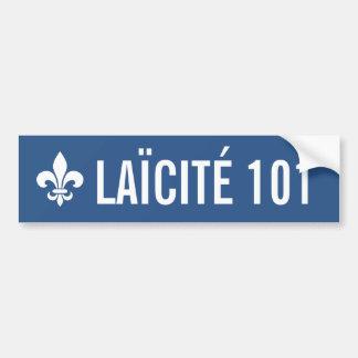 Adesivo Para Carro Québec 101 Français Laïcité ENTREZ VOTRE TEXTE!