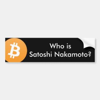 Adesivo Para Carro Quem é Satoshi Nakamoto? Autocolante no vidro