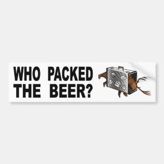 Adesivo Para Carro Quem embalou a cerveja?