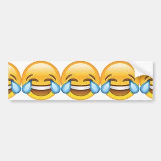 Adesivo Para Carro Rasgos de grito de riso do emoji da alegria