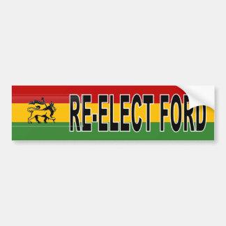 Adesivo Para Carro Re-eleição de Rasta Roubo Ford