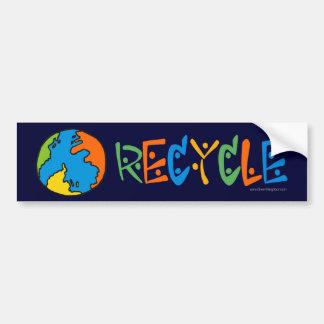 Adesivo Para Carro Reciclagem colorido
