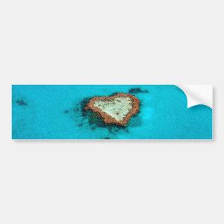 Adesivo Para Carro Recife de corais do coração