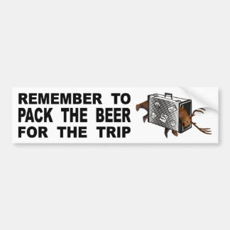 Adesivo Para Carro Recorde embalar a cerveja para a viagem