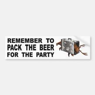 Adesivo Para Carro Recorde embalar a cerveja para o partido