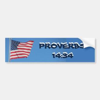 Adesivo Para Carro Rectidão do 14:34 dos provérbio da bandeira dos