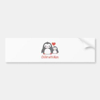 Adesivo Para Carro refrigerando com mamã, desenhos animados loving