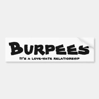 Adesivo Para Carro Relação do amor/ódio de Burpees