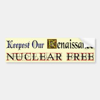 Adesivo Para Carro Renascimento livre nuclear que diz o autocolante