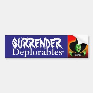 Adesivo Para Carro Rendição Deplorables de Hillary Clinton!  Trunfo!