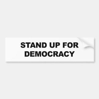 Adesivo Para Carro Represente acima a democracia