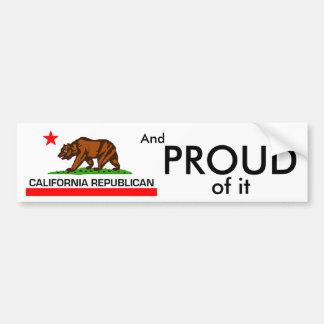 Adesivo Para Carro Republicano de Califórnia
