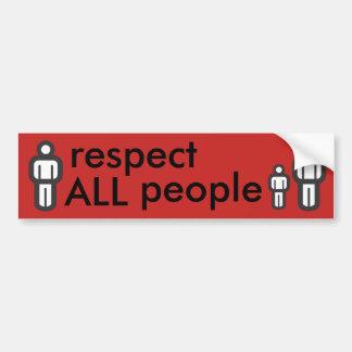 Adesivo Para Carro respeite todas as pessoas
